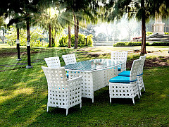 Bryan Dining Set (White Color)